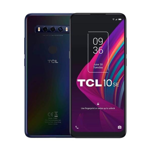 Tcl 10 se noche polar móvil 4g dual sim 6.52'' hd+ octacore 128gb 4gb ram tricam 48mp selfies 8mp
